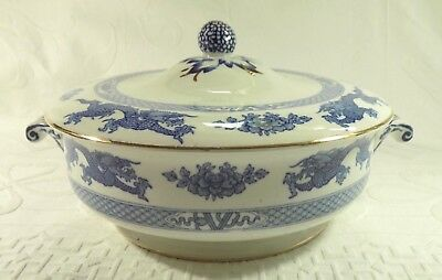 Booths Vintage Booths Teapot Lowestoft Deer Silicon China Blue White Antique Numbered