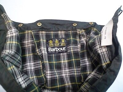 Barbour-   A128 Waxed Cotton Hood- Sage -  Made In England- Size  Large