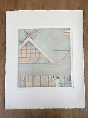 """1940s """"THE GREAT IMPERIAL THANKSGIVING RITE"""" MAEDA SEISON PAINTING PRINT MEIJI"""