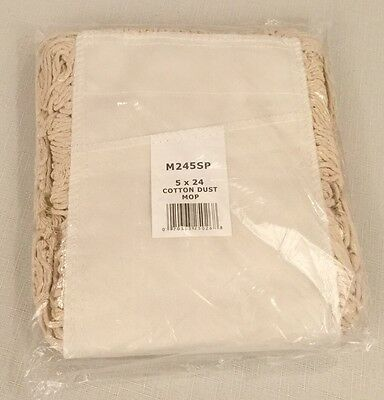 New O'Dell  24 x 5 Dust Mop Replacement Head M245SP Cotton Cut-End