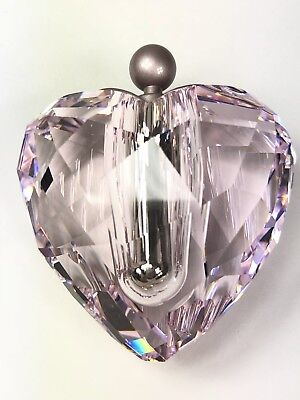 With You Heart Swarovski Crystal Pink Message In A Bottle # 905515 Retired 2009