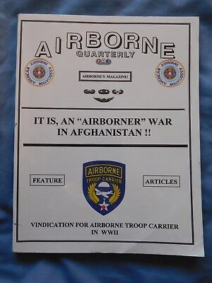 Airborne Quarterly Spr 2002 Magazine WWII Sicily 13th Airborne Mexico Germany