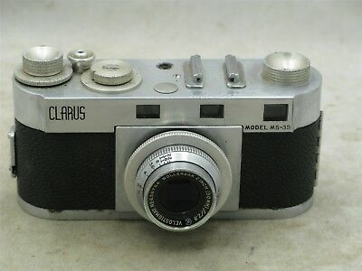 Clarus MS-35 Rangefinder With Wollensak 2 inch lens FOR PARTS REPAIR OR DISPLAY