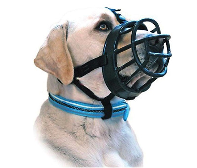 BaskerVille Ultra Muzzle for Dogs - Size 4 - Extremely Tough Durable
