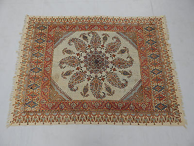 Antique Indian Beautiful Print Paisley Shawl 175X130cm (T946)