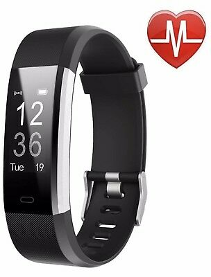 LETSCOM Fitness Tracker HR, Activity Tracker with Heart Rate Monitor Watch