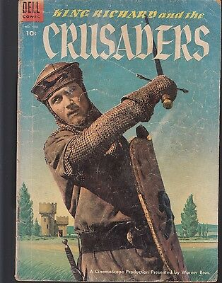 FOUR COLOR  #588 1954 DELL -KING RICHARD and CRUSADERS MATT BAKER-a PHOTO-C..GD+