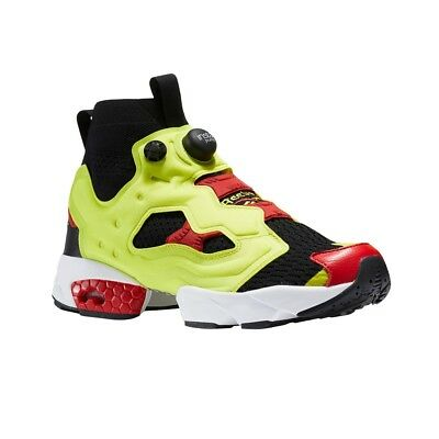 Reebok Instapump Fury Og Ultraknit (BLACK HYPERGREEN ) Men s Shoes BS6367 0471a8b37