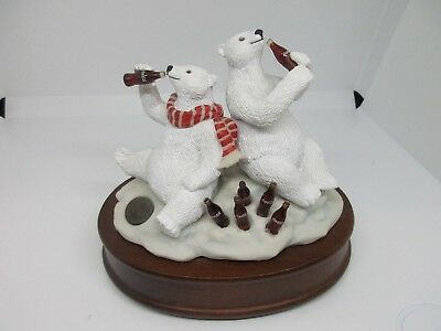 Coca Cola Polar Bear Musical Figurine 1994 Heritage Collection