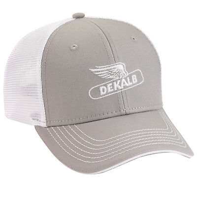 504aa163bb2 DEKALB SEED Gray Vintage Trademark Logo Cap Hat New Ballcap Corn New Flying