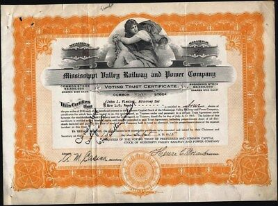 Mississippi Valley Railway And Power Co, 1915, Voting Trust Certificate