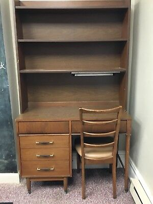 SALE-danish mid century modern Desk With Matching Bookcase & Chair