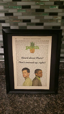 """Antique Dictionary Art: Psych TV Show """"Heard about Pluto"""" Shawn and Gus"""