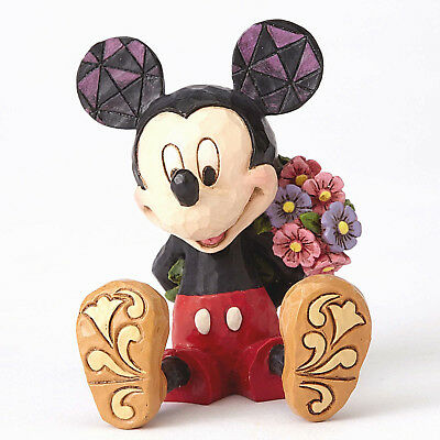 Disney Traditions*MINIATURE MICKEY MOUSE with FLOWERS*Jim Shore*NEW*NIB*4054284