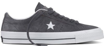 Converse One Star Suede Ox Men Sz 10 Thunder Grey Gray White All Classic Cons