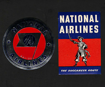 OPC X2 Vintage National Airlines Luggage Labels MNH