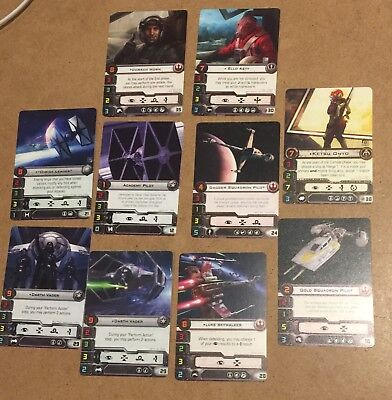 Star Wars X-Wing miniatures game Official FFG promos lot