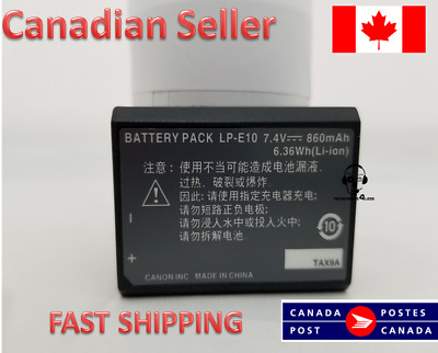 E10 battery for Canon LP-E10 Rebel T3 T5 T6 T7 Camera Battery Pack LPE10 1100D