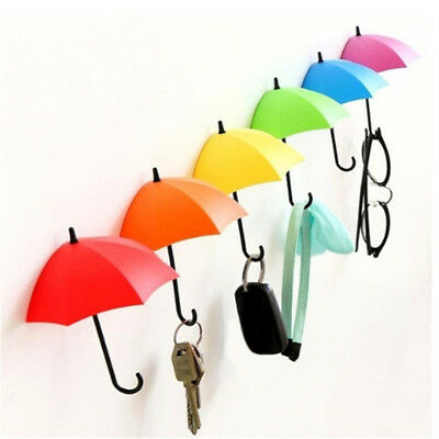 3pcs/set Cute Umbrella Wall Mount Key Wall Hook Hanger Organizer Holder CA