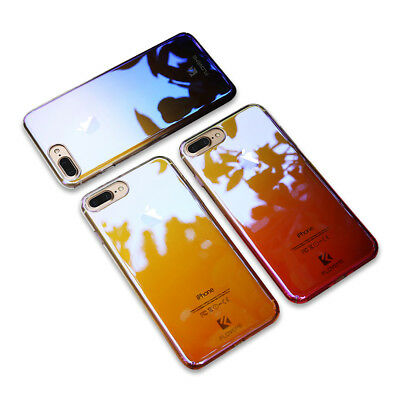 US FLOVEME Cool Plating Gradient Case For iPhone 6s 6 8/7 Plus Cover Blue-Ray