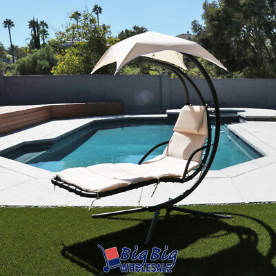 Swell Hammock Chair Hanging Lounge Chaise Outdoor Porch Patio Canopy Sun Shade Beige Home Remodeling Inspirations Propsscottssportslandcom