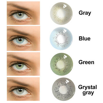 1Pair Big Eyes Unisex Cosmetic Contact Lenses Halloween Party Cosplay a Nouveau