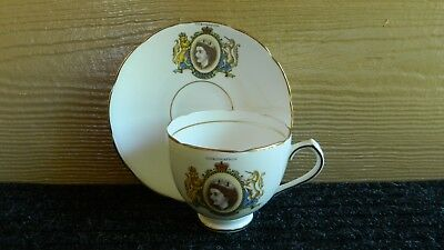 1953 Duchess Bone China Queen Elizabeth Coronation Cup & Saucer
