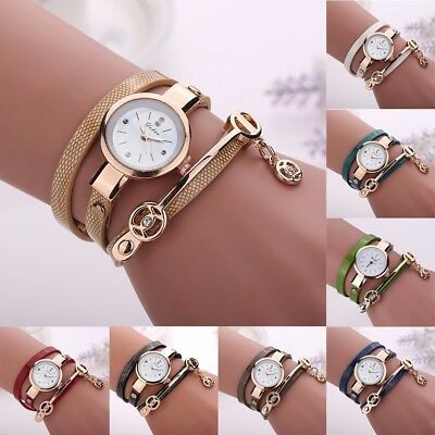 Women PU Leather Strap Quartz Watch Ladies Casual Bracelet Fashion Wrist Gifts