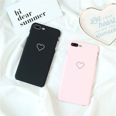 Cute Love Heart Hard Phone Case Cover for iphone  6 6S 7 8 Plus Samaung S6 S7 S8