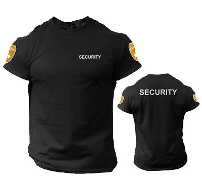 Security T Shirt Event Staff Office Double Sided Badge Front/Back