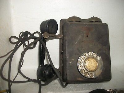 1920s? VINTAGE ANTIQUE  AUSTRALIA TIMBER  WALL TELEPHONE