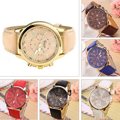 Women Girl Analogue Quartz Wrist Watch Ladies Watches Fashion Leather Soft Strap