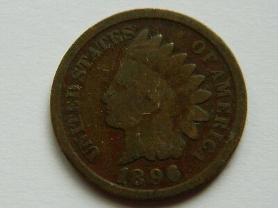 Rare Very Old Antique Collectible US 1896 Indian Head Penny USA Coin Collection