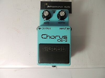 Vintage Boss CE-2 Analog Chorus Long Dash Silver Screw Effects Pedal MIJ RARE