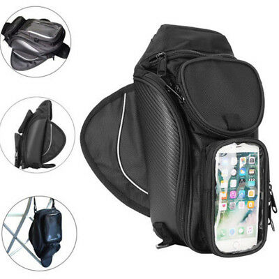 Motorcycle Tank Bag Tail Saddle Bag Storage Pack Luggage Back Seat Phone Pouch