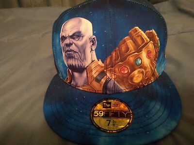 Avengers Infinity War Thanos Hat New Era 59Fifty Fitted Size 7 5/8