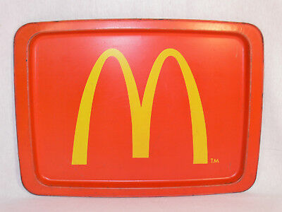 VINTAGE McDonald's METAL SERVING TRAY with GOLDEN ARCHES Logo 1970's COLLECTORS