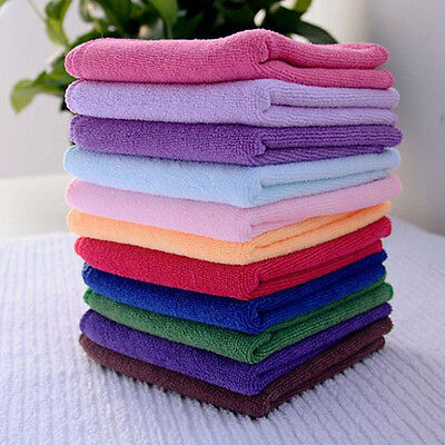 10pcs Soft Soothing Microfiber Face Towel Cleaning Wash Cloth Hand Square Towel