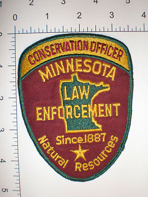 MN Minnesota DNR Game & Fish Wildlife Conservation Officer warden police patch