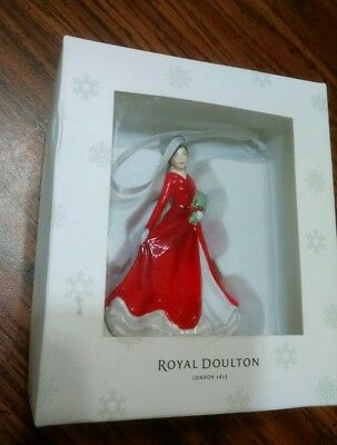 Vintage NIB Royal Doulton Christmas Ornament - Deck the Halls Figurine 3