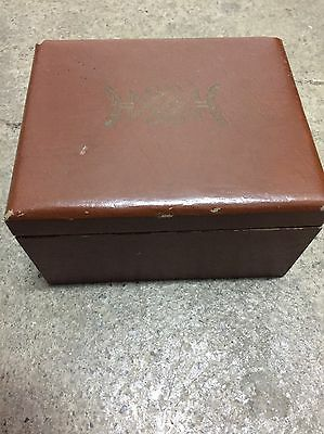 Vintage Benson And Hedges Leather Wood Box, Smith crafted Chicago