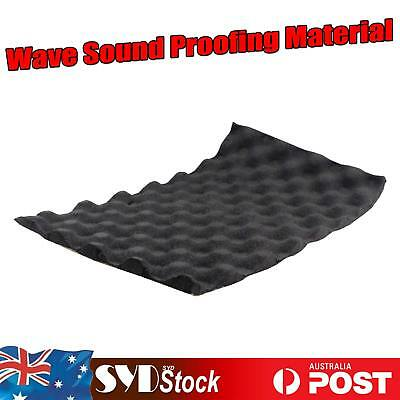 100 x 35cm Automobile Wave Foam Insulation Noise Acoustic Sound Deadener Proof