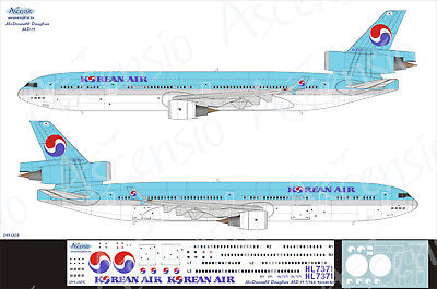 McDonnell Douglas MD-11 1/144 Korean Air decal by Ascensio 011-005