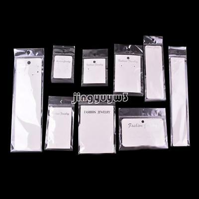 100Sets with OPP Bag Earrings Necklace Bracelet Cards Tag Jewelry Display Paper