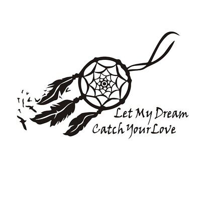 Wall Decals Dream Catcher Sticker Let My Dream Bedroom Quote Mural Home Art#TA