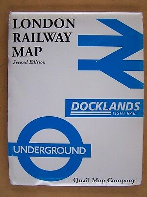 """LONDON RAILWAY MAP Second Edition."" BOOK."