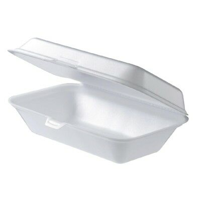 300Pcs Foam Large Snack Box Clam TakeAway Container Rectangle 230X150X70mm BULK