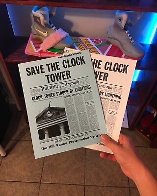 Back to the Future - Save the Clock Tower Flyer & Poster