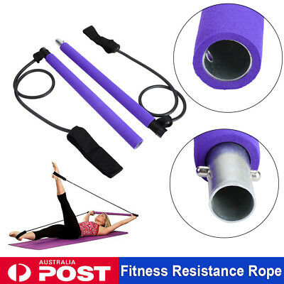 Exercise Resistance Bands Body Gym Bar Yoga Stick Stretch Fitness Workout Fit