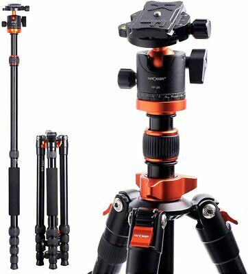 K&F Concept Pro Aluminum Tripod & Ball Head for DSLR SLR Camera w/ 5 Sections